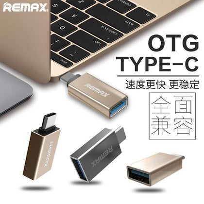 Remax / Core Vision Type-C OTG Adapter Double sided USB metal otg 3.0A transmission charging