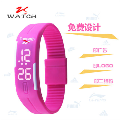 Bracelet confession light LED sports bracelet watch student creative children's luminous electronic gift watch custom LOGO
