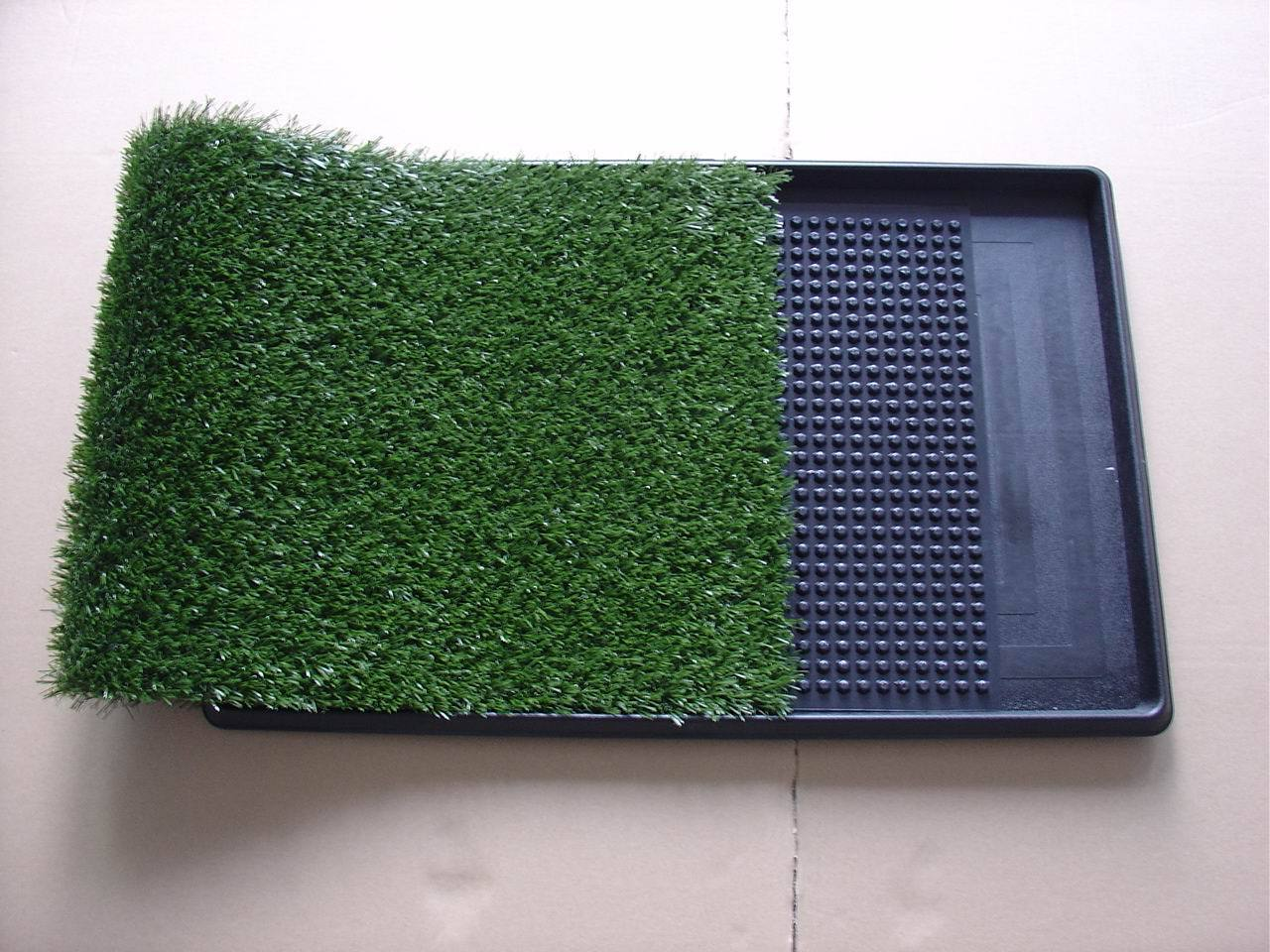 Three-layer pet mat lawn pet toilet 51X64cm with two lawns