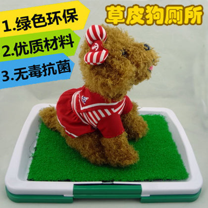 Pet defecation positioning turf dog toilet dog fixed toilet pp resin factory direct wholesale