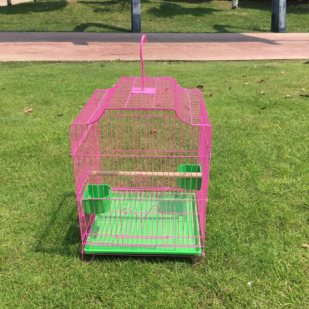Factory direct wholesale bird cage Parrot bird cage large Folding bird cage plating cage Starling bird cage