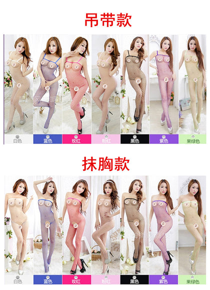 Europe and the United States sexy one-piece transparent slings one-piece mesh clothing open file free of sexy underwear manufacturers on behalf of
