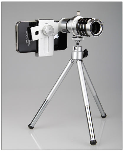 12 times mobile phone telephoto focusing lens mobile telescope universal external photography camera lens