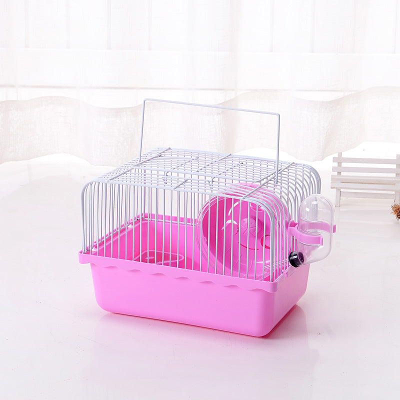 Factory direct hamster cage small pastoral portable cage small outer cage plastic pet pol baby cage