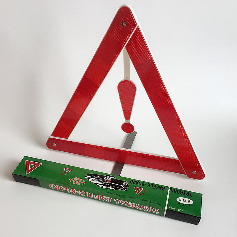Triangle warning sign car tripod car reflective parking warning sign car safety reflective tripod