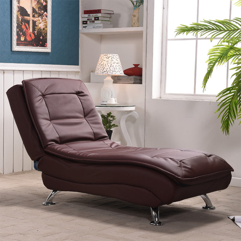 Bedroom single sofa bed function folding fabric leisure leather recliner sofa couch simple European chaise longue