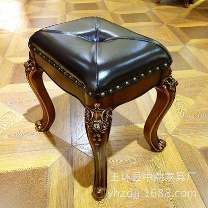 European-style furniture European-style dressing table French court solid wood carved dressing stool factory direct sales