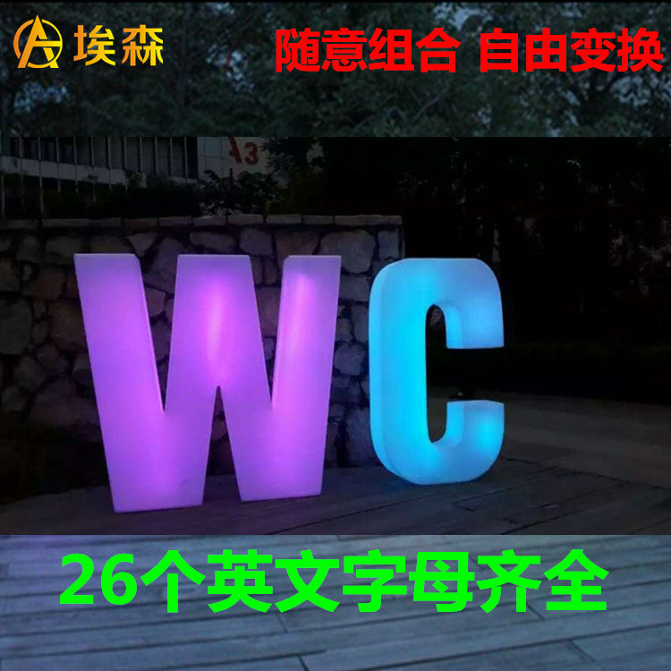 Aisoon luminous letters luminous letters large advertising words LOVE exhibition advertising 26 English letters direct sales