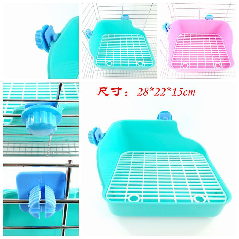Factory direct pet rabbit chinchillas guinea pig toilet rabbit toilet Dutch pig toilet square lace big rabbit toilet