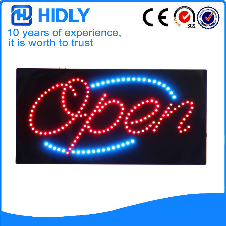 【Long-term warranty】Haideli highlights the boutique LED OPEN sign 24-hour signboard (HSO0639)