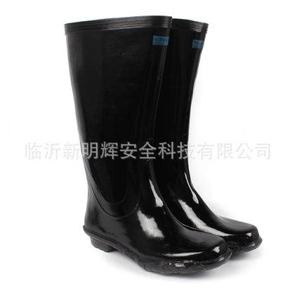 Zhengan acid and alkali resistant rubber boots High tube anti-chemical boots Acid and odor-resistant rain boots Rubber boots waterproof and oil resistant