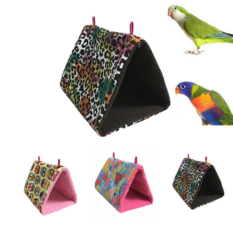 Al70 new peony parrot small sun hammock bird nest warm thick triangle bird nest warm and comfortable