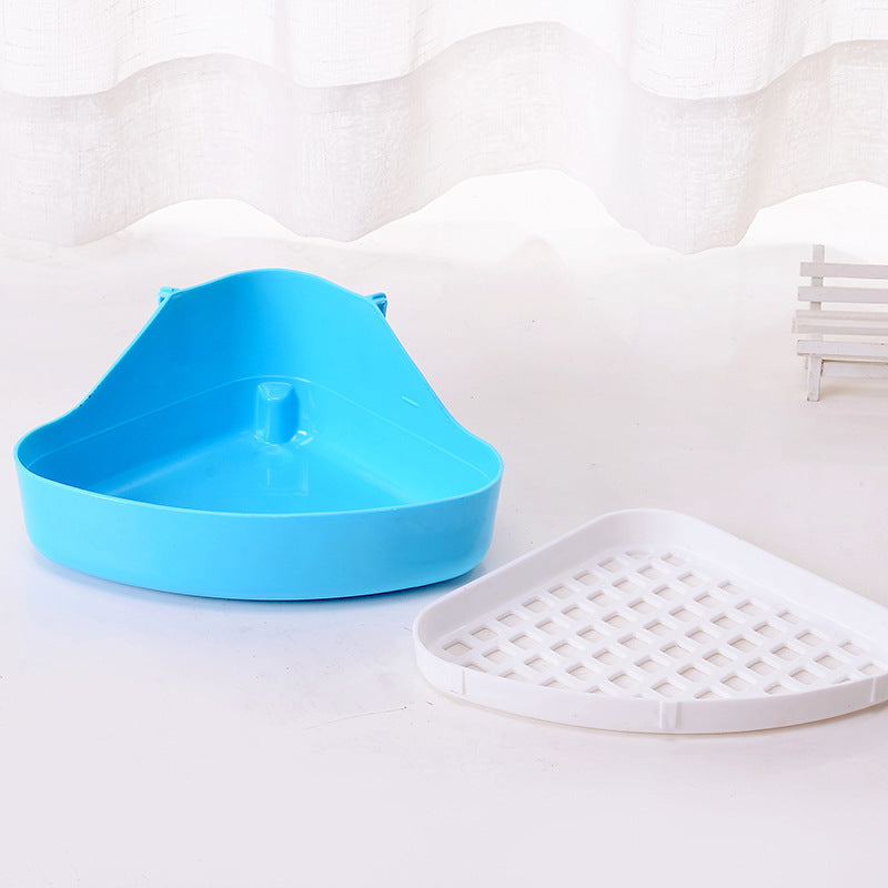 【Pet rabbit toilet】 Wholesale rabbit toilet pet toilet triangle can be fixed