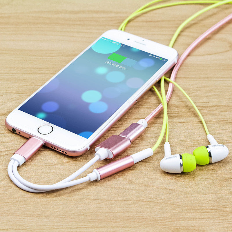 Applicable iphoneX 6 7s 8plus headphone extension cable charging listening song combo audio line factory custom