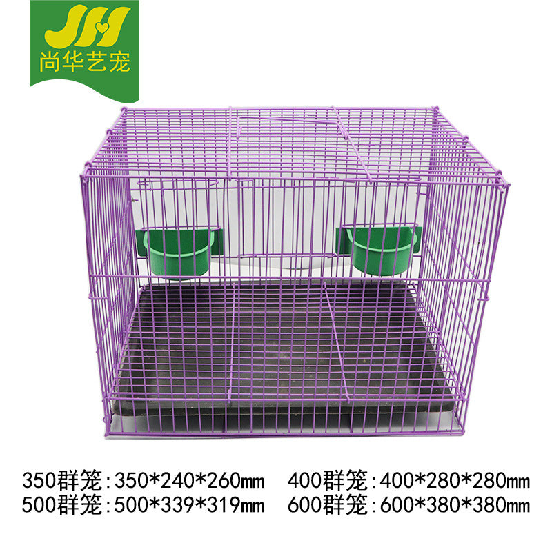 Factory direct wear-resistant anti-stress rabbit cage Large iron solid color pet cage Pet supplies rabbit cage wholesale