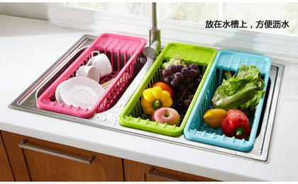 New special fruit and vegetable drain rack tableware drain rack drain basket plastic drain rack green bowl rack