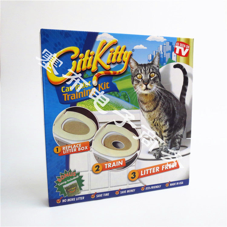 TV016 cat toilet training gift gift Citi kitty
