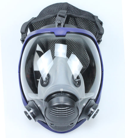 Gas mask spray paint chemical dust-proof full-face mask large formaldehyde-proof silicone fire-proof full-face mask