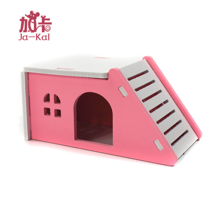 Ja-kal Gaka italic hamster toy supplies Wooden big wooden house double-decker villa