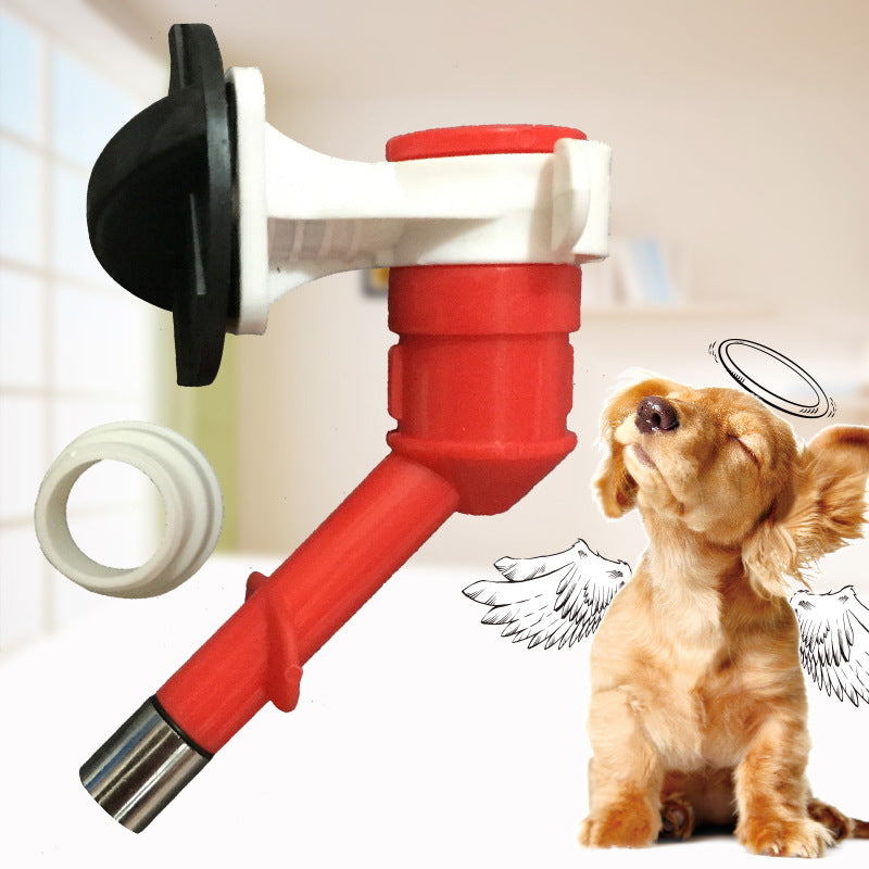 Pet automatic drinking fountains Small pet hanging special drinking heads Ball stainless steel faucets Wholesale