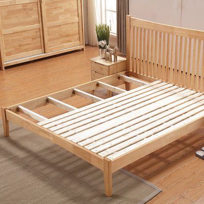 Simple American style solid wood bed 1.8 m double bed 1.5M wooden bed single bed bedroom full furniture special bed