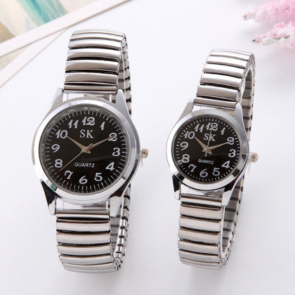 10 yuan source digital elderly watch elastic band elderly watch middle-aged and elderly student watch male watch female watch couple