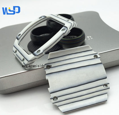 New carbon fiber watch case ring mouth strap high-end fashion watch accessories color carbon fiber manufacturers custom