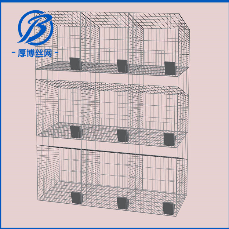 Galvanized bold rabbit cage factory direct sales mother rabbit cage cultured rabbit cage 12 three-layer rabbit cage