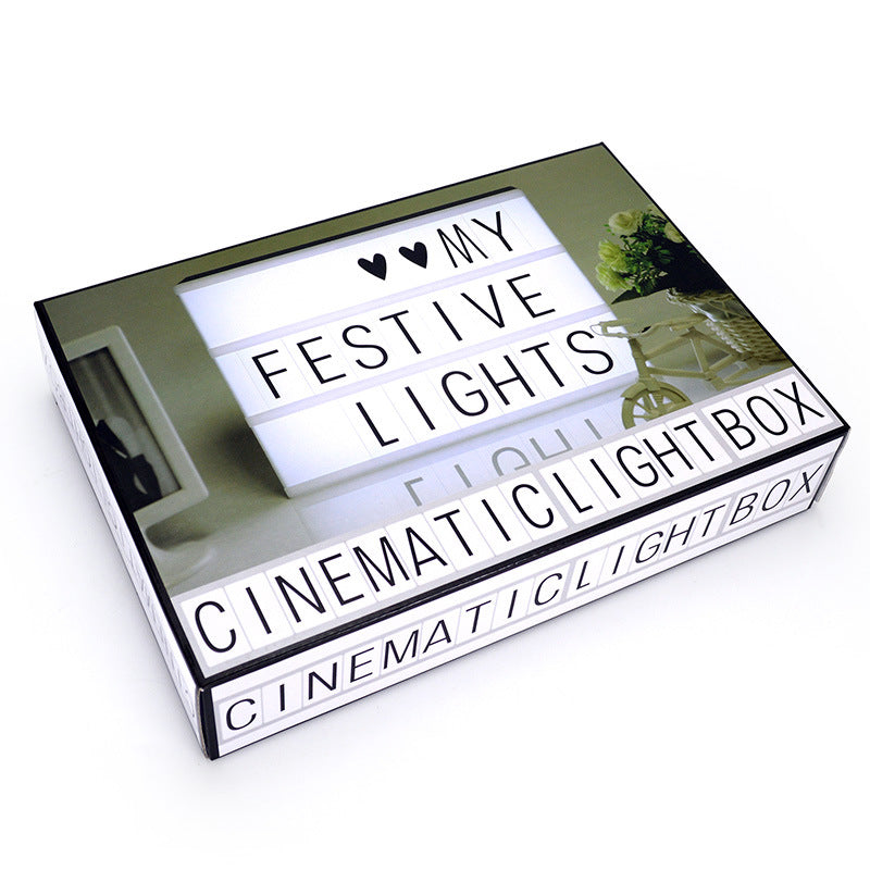 A4 DIY letter combination stitching light box LIGHT BOX combination light box USB+ battery model