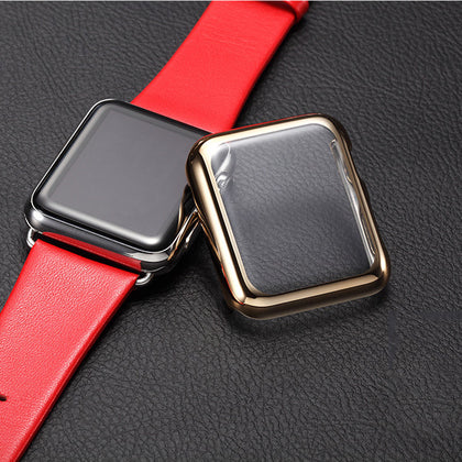 Suitable for Apple iwatch Apple Smart Watch PC Plating Full Screen Protective Case Protective Case Wholesale