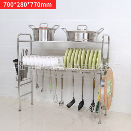 304 plate dish rack drain rack a multi-functional kitchen utensil storage rack factory direct sales