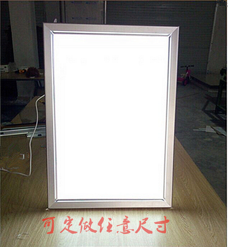 Customized high-grade ultra-thin light guide light box, export ultra-thin LED flip light box, wall-mounted LED poster light box