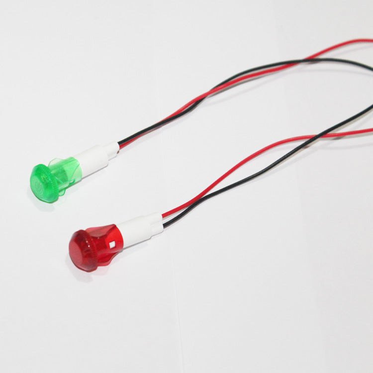 Factory direct round multi-color oil heaters refrigerator plastic shell buckle bayonet indicator lights