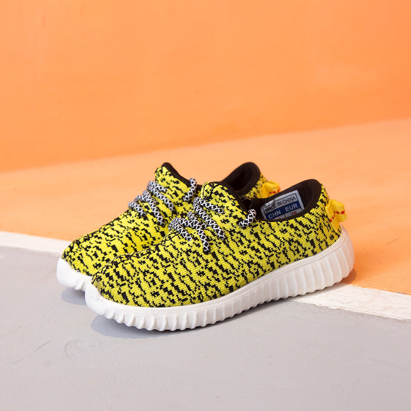2019 spring children's shoes new tide children's coconut shoes running shoes boys and girls breathable sports shoes casual shoes generation