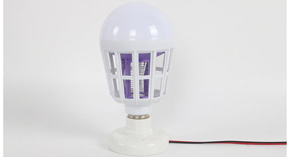 2017 new ebayE2715WLed mosquito killer household electric shock mosquito lamp cage bird mosquito killing lighting bulb