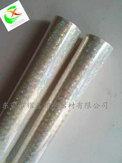 Transparent laser gilding paper transparent broken glass laser gilding paper