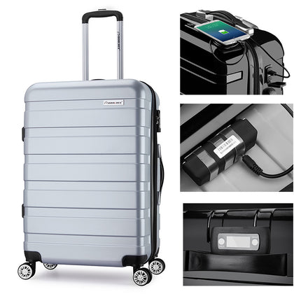 GPS intelligent positioning luggage suitcase trolley case abs suitcase anti-lost locator customization