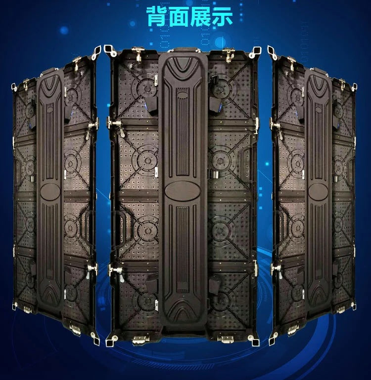LED stage rental screen 500*1000mm arc die-cast aluminum box LED display box manufacturer spot