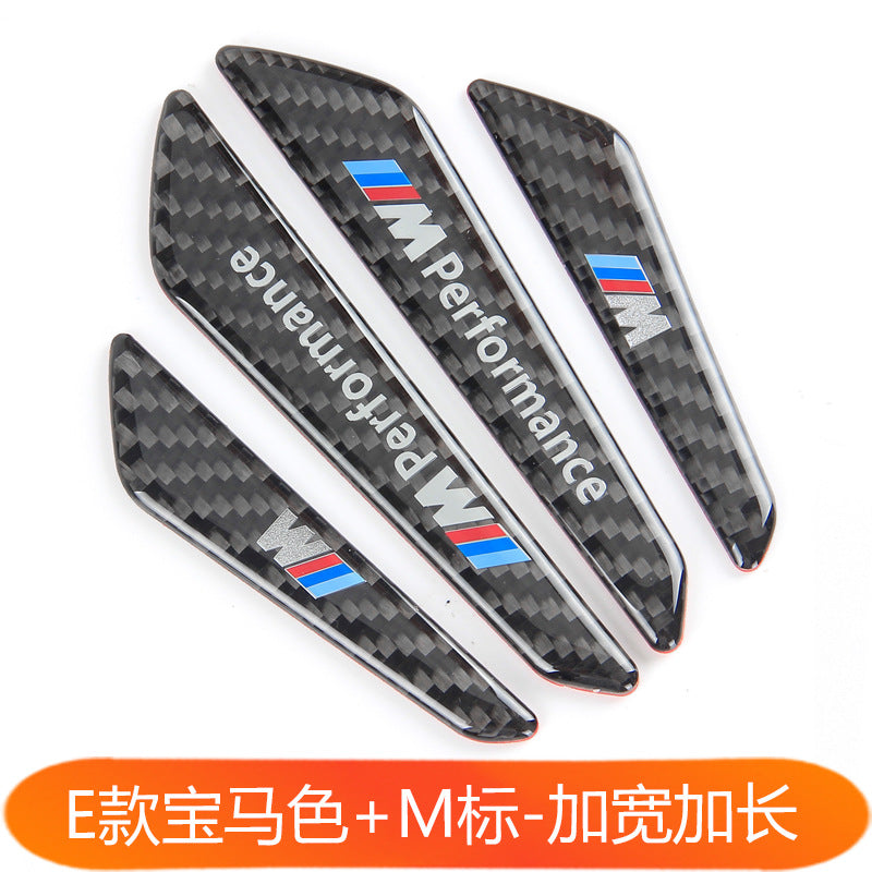 Car real carbon fiber door anti-collision strip Door side body anti-scratch strip Scratch protection decoration Steam supplies