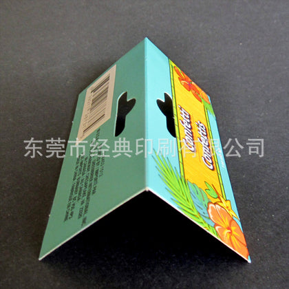 Manufacturers hot socks card head color card plastic paper card aircraft hole card folding card custom printing