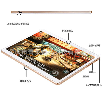 Smart metal tablet Phone Android phone 10.1-inch tablet Dual camera Customizable LOGO