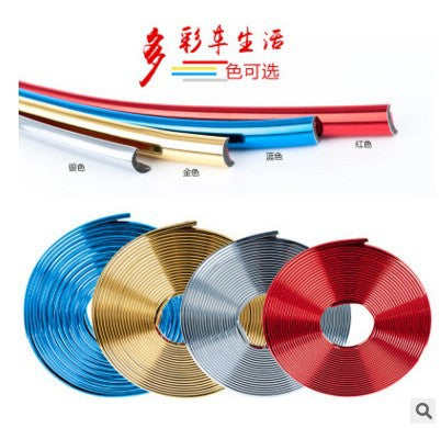 Electroplating wheel stickers car wheel change decorative wheel stickers protection ring anti-collision tire wheel wheel wheel decorative strip
