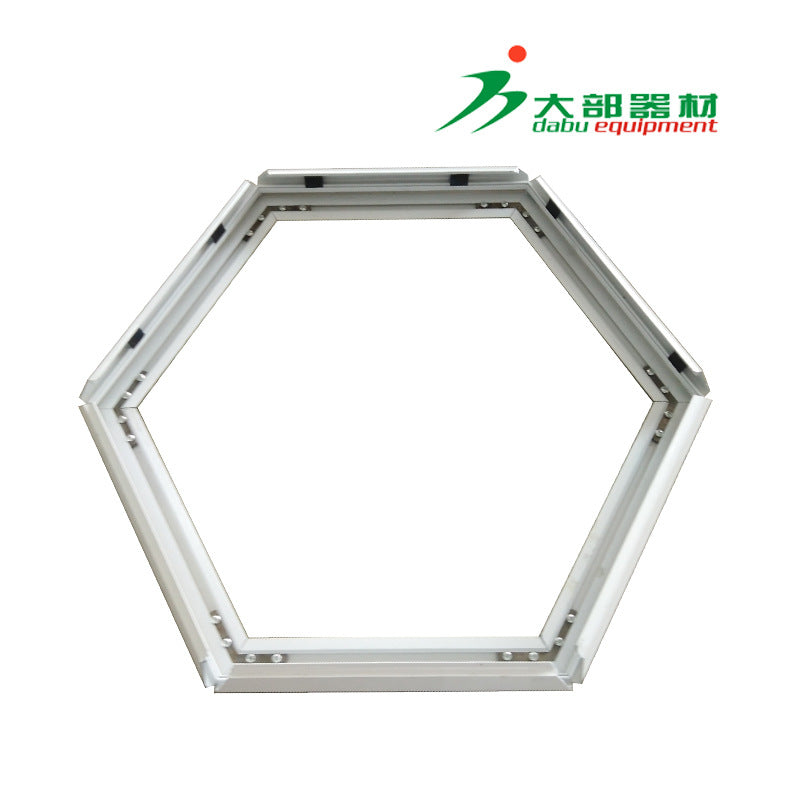 Guangzhou manufacturers supply 4cm hexagonal shaped white flip ultra-thin light box 6-sided acrylic LED lights