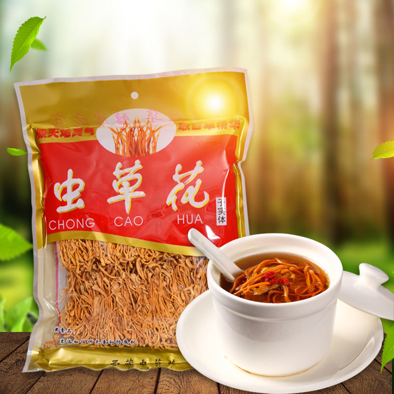 Northeast new goods, Cordyceps militaris, spores, locusts, dried grass, retail, wholesale, direct sales, 500g, sulfur-free