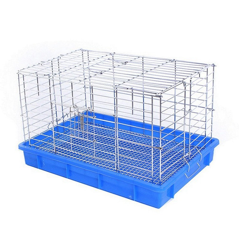 Rabbit Chinchilla Guinea Pig Cage Villa Oversized Rabbit Cage Aluminum Silver Blue Basin Rabbit Cage Large Rabbit Cage Factory Direct