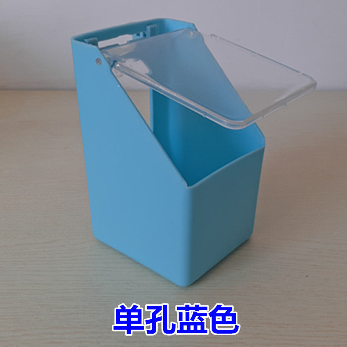 Pigeon supplies Jin Yuwang pigeons Single hole hanging box multi-function hanging box Covered hanging box trough sink health sand box