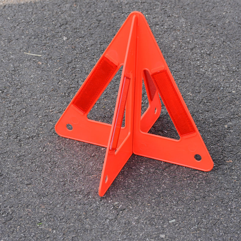 Triangle warning sign reflective warning sign road emergency reserve warning triangle