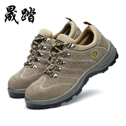 Breathable and deodorant foot protection shoes Outdoor construction safety safety shoes Summer with venting protective shoes