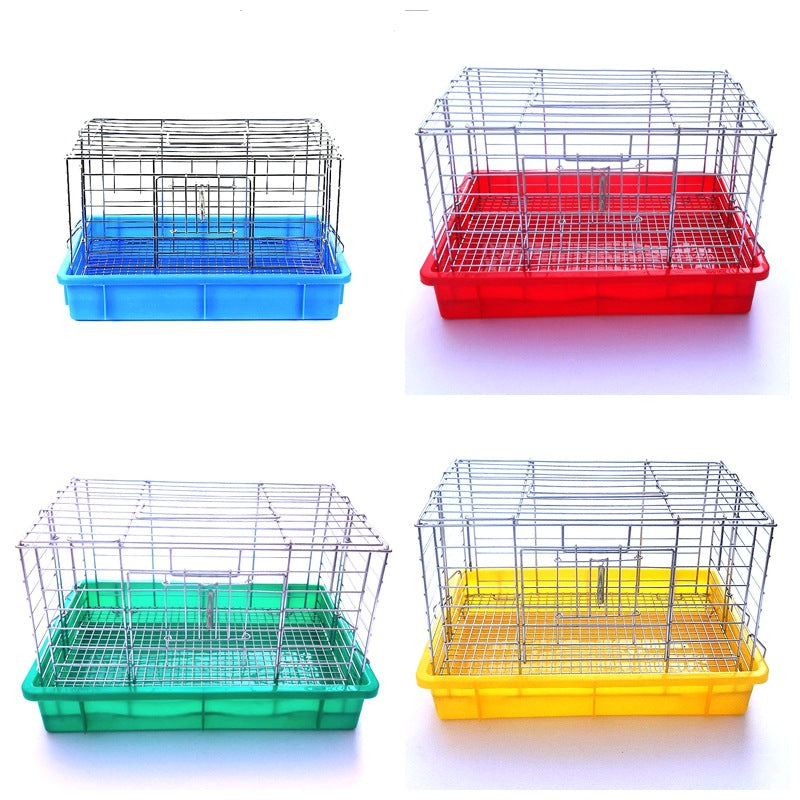 Rabbit cage Dutch squirrel cage luxury rabbit cage chrome small rabbit cage small blue basin guinea pig cage Tianzhu cage 4 color optional