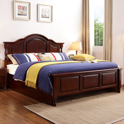 American bed solid wood bed 1.8 m double bed country simple bedroom furniture Jane wedding bed big bed high box bed